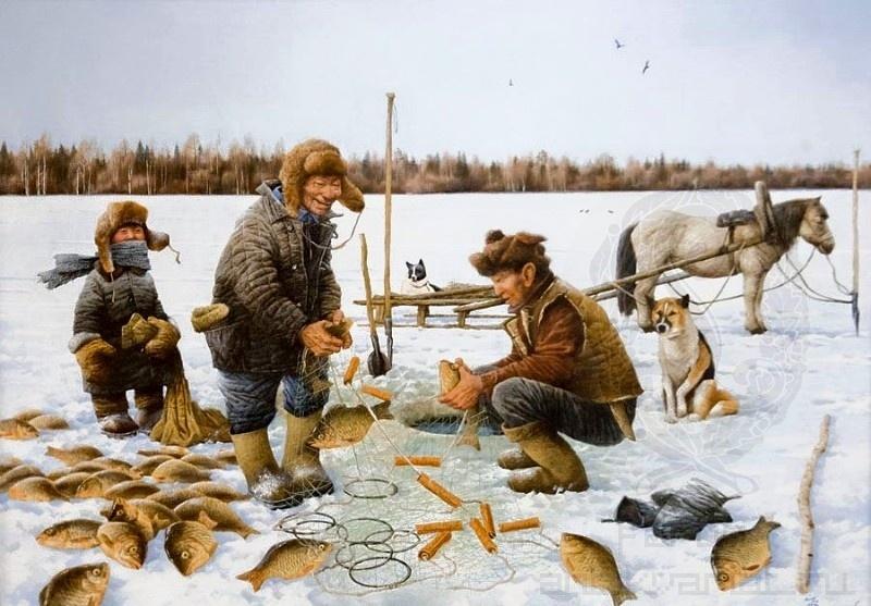 картинка охота и рыболовство на руси ягоды могут стать