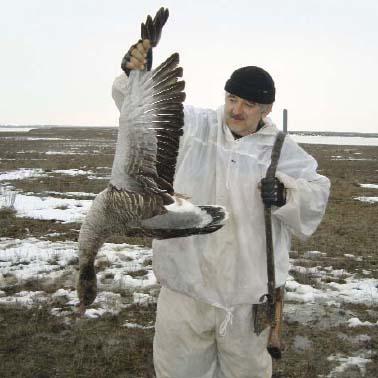 Новосе в охоте на гуся